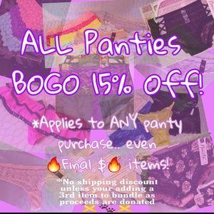 BOGO 15% off Panties! Read both slides please